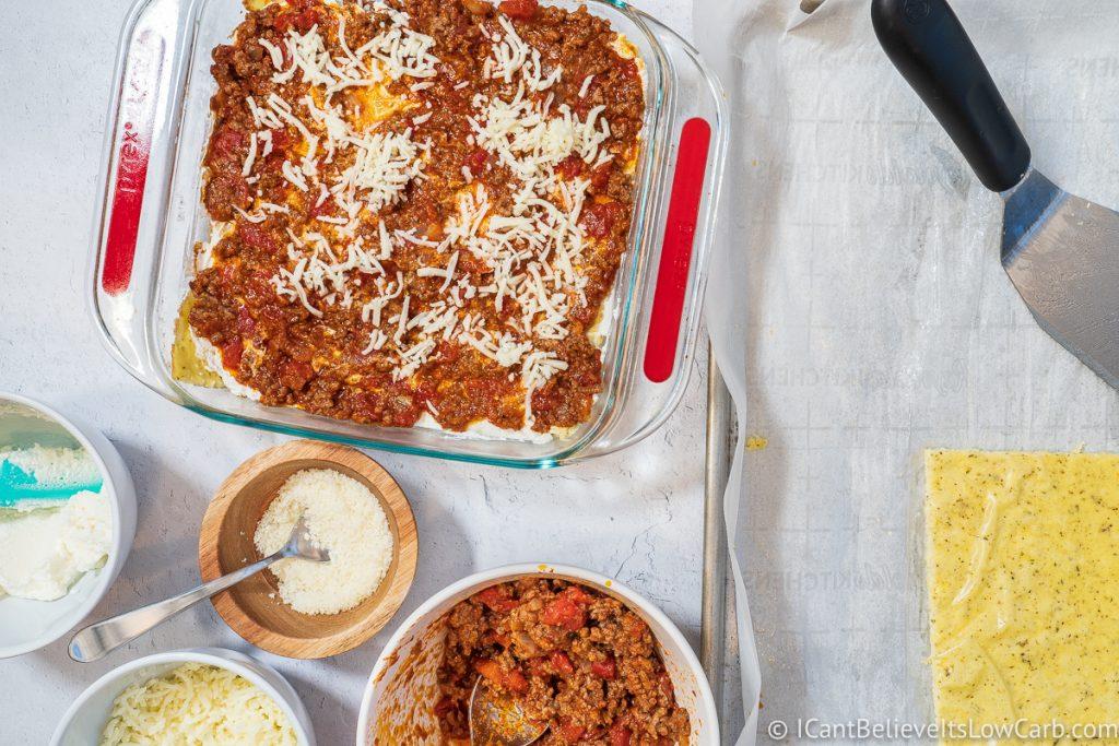 adding mozzarella cheese