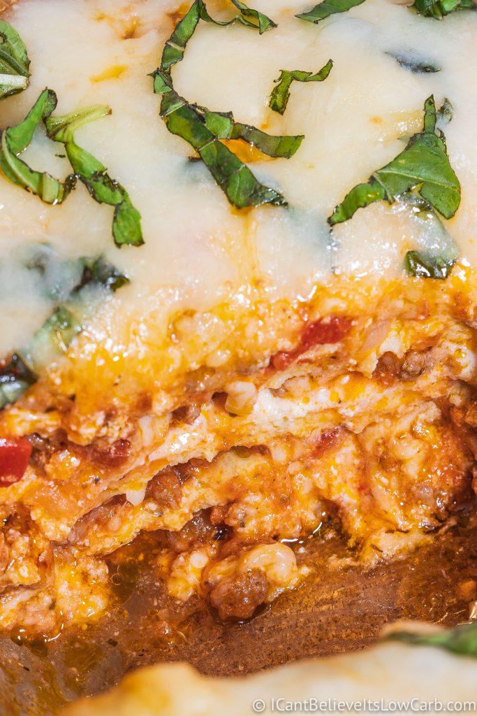 Inside Keto Lasagna