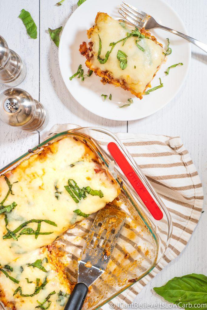 Keto Lasagna Casserole Bake Recipe