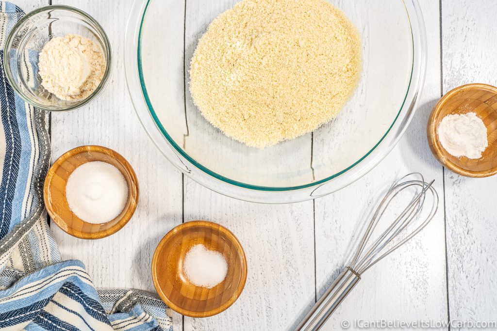 Ingredients for Keto Waffle mix