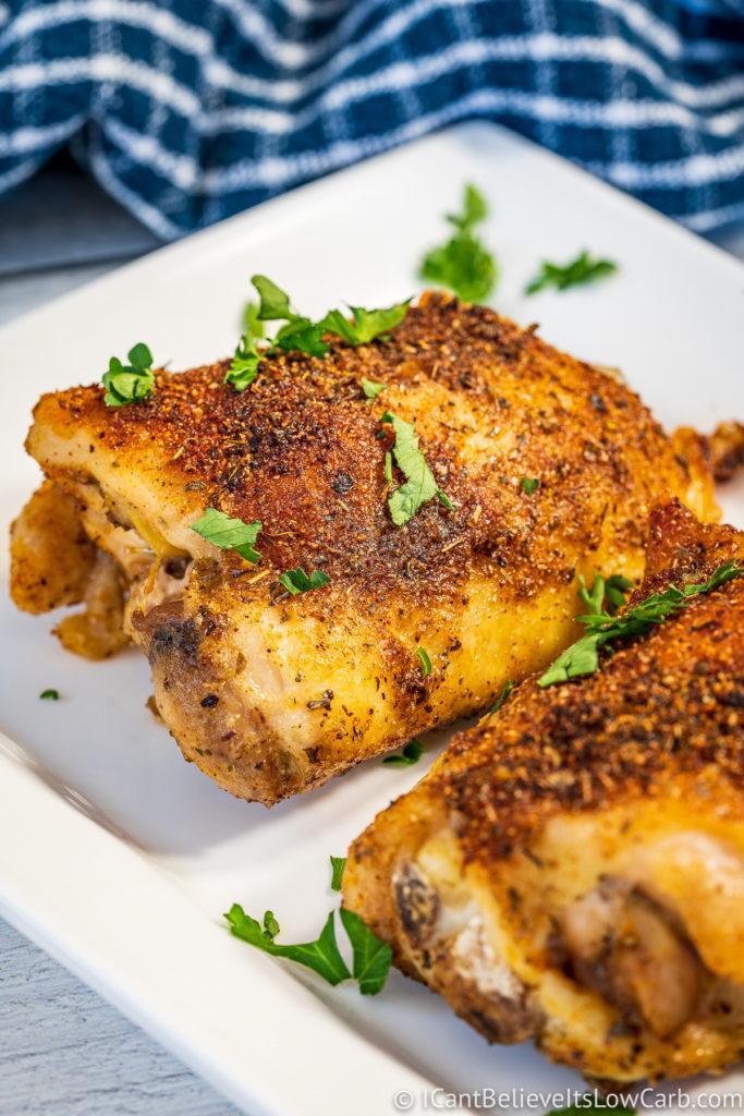 Crispy Baked Chicken Thighs