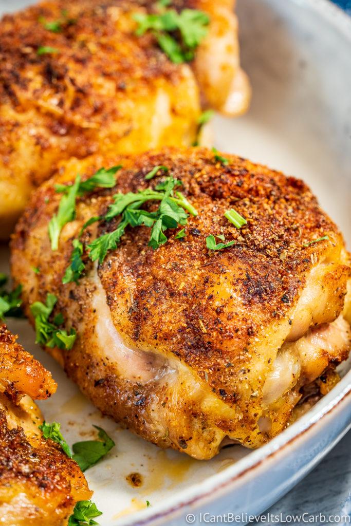 Best Crispy Baked Chicken Thighs