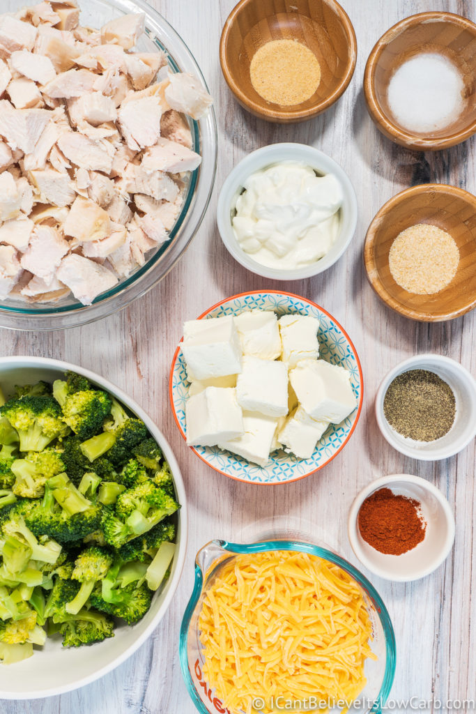 Keto Chicken Casserole Ingredients