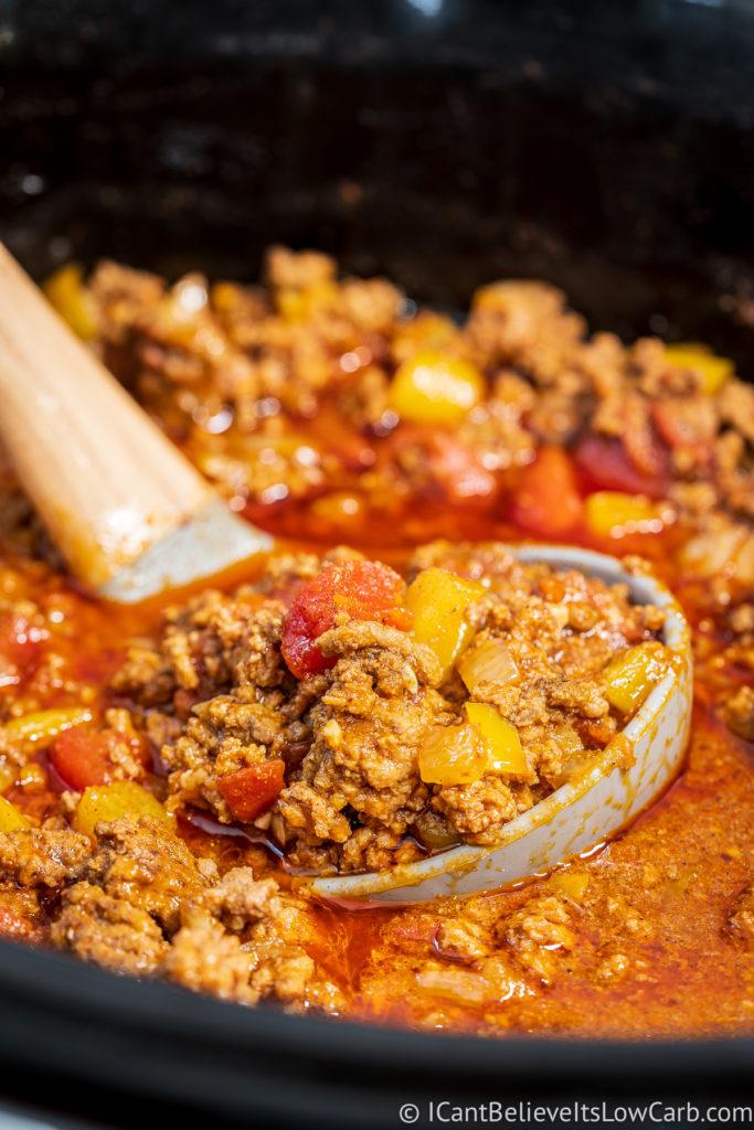 No-Bean Crockpot Chili