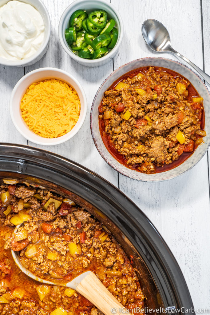 Low Carb Chili Recipe in the slow cooker