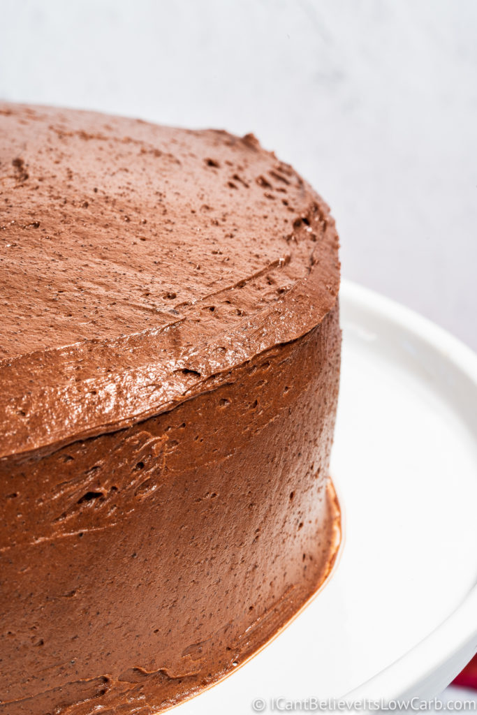 How to frost a Keto Chocolate Cake