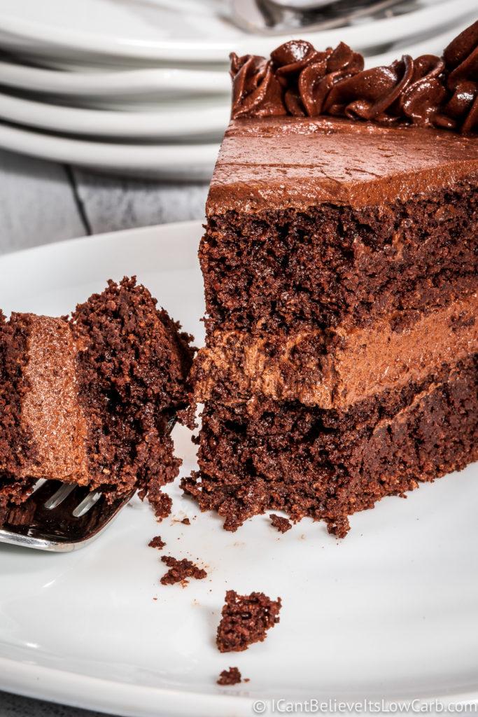 Inside Keto Chocolate Cake
