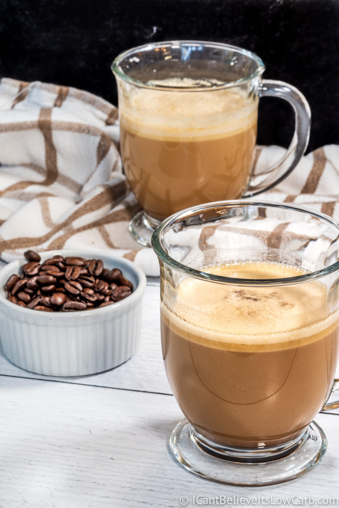 Two cups of Keto Coffee