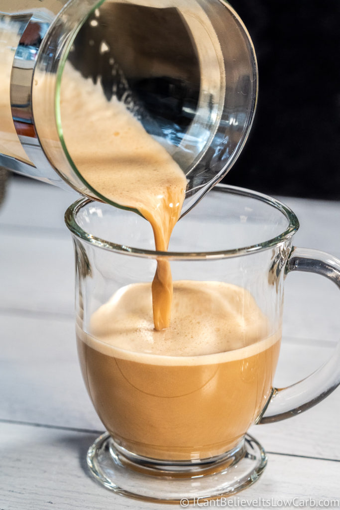 Pouring Bulletproof Keto Coffee