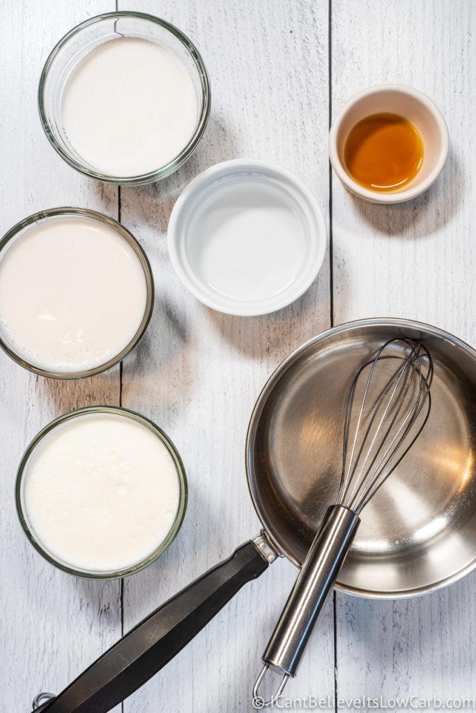 Keto Coffee Creamer ingredients