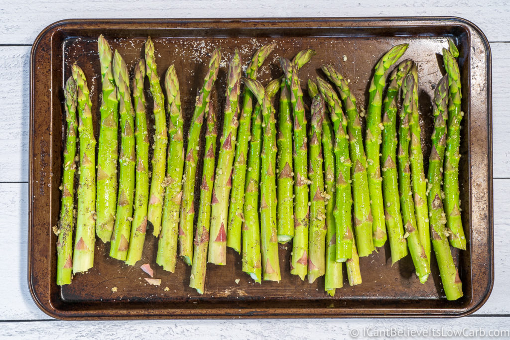 Asparagus Prepared for baking in the oven