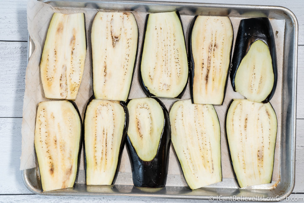 Sliced Eggplant before baking