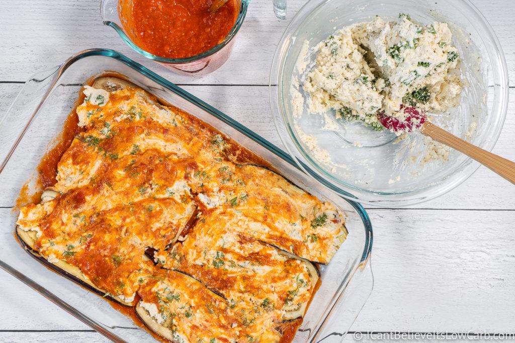 Layering Eggplant Lasagna