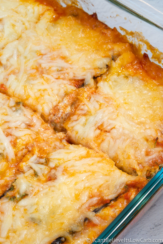 Cutting Eggplant Lasagna