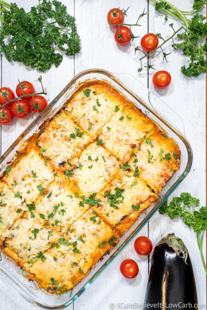 Best Keto Eggplant Lasagna