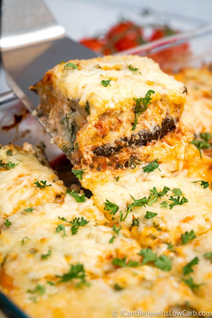 Keto Eggplant Lasagna without Noodles