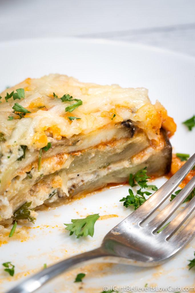inside center of Eggplant Lasagna