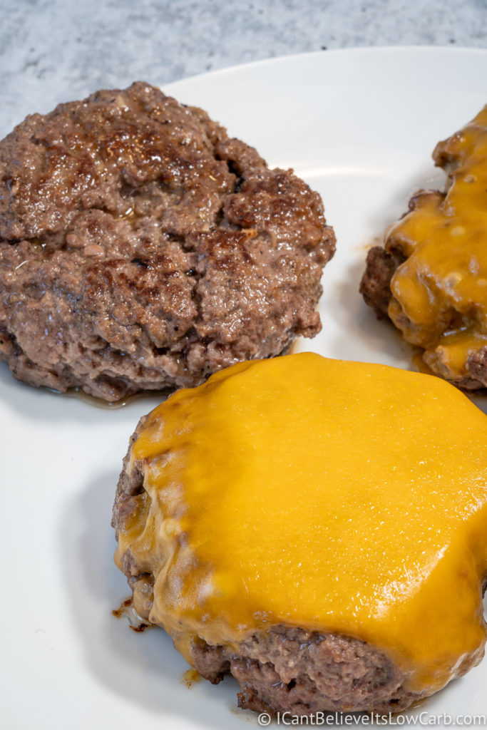 Cooked Hamburgers on a plate