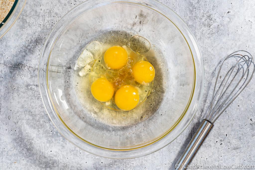 adding vanilla to the eggs