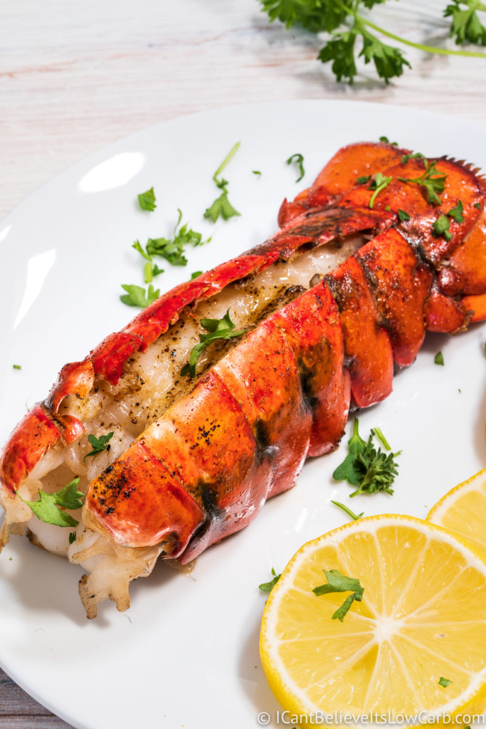 Freshly Grilled Lobster Tail with parsley