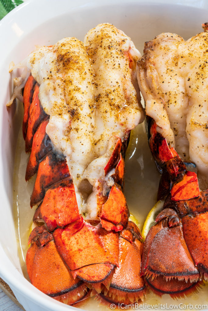 Cooked Lobster Tails in the oven