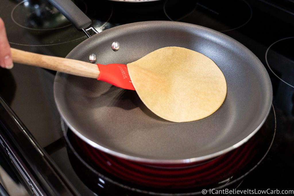 Flipping Almond Flour Tortillas