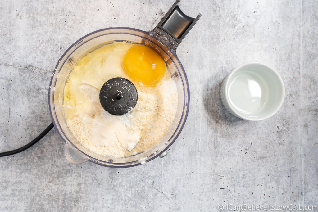 Adding eggs to mixture