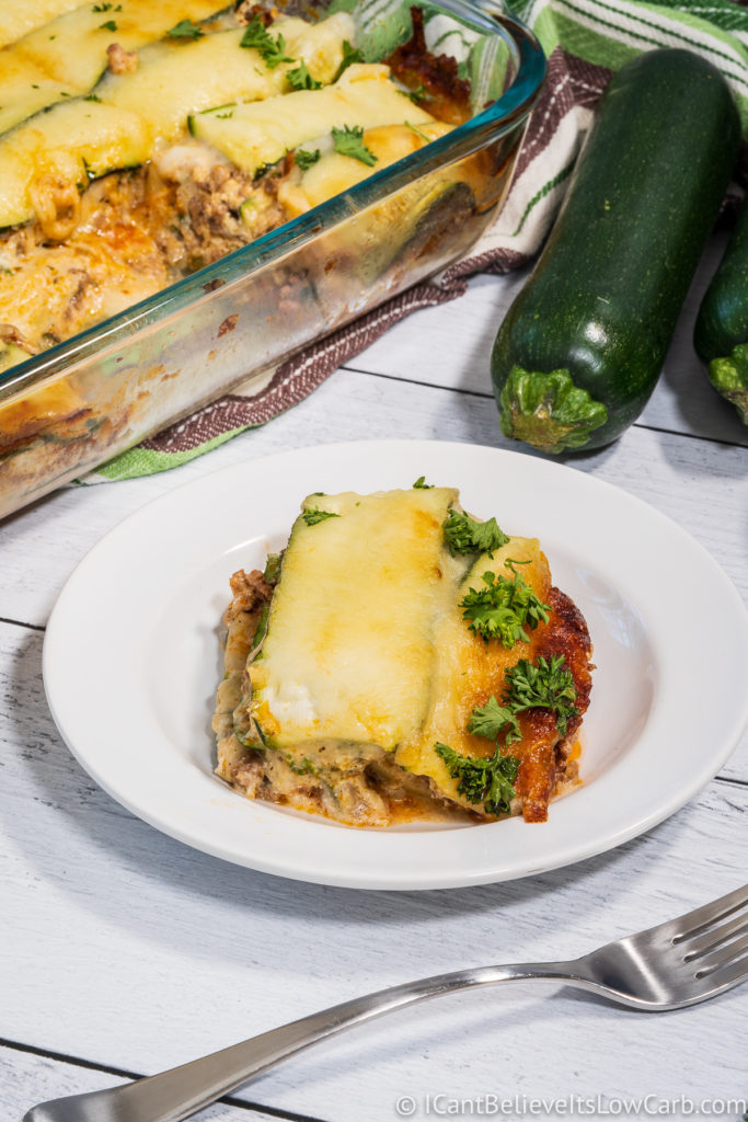 Low Carb Keto Zucchini Lasagna