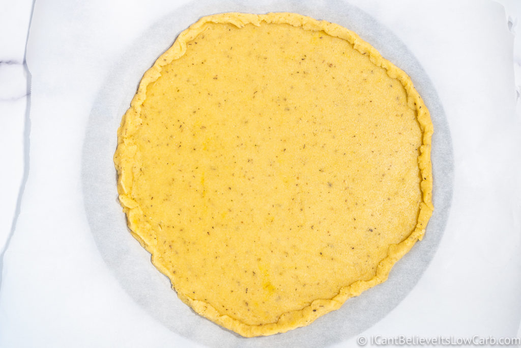 Uncooked Almond Flour Pizza Crust formed round