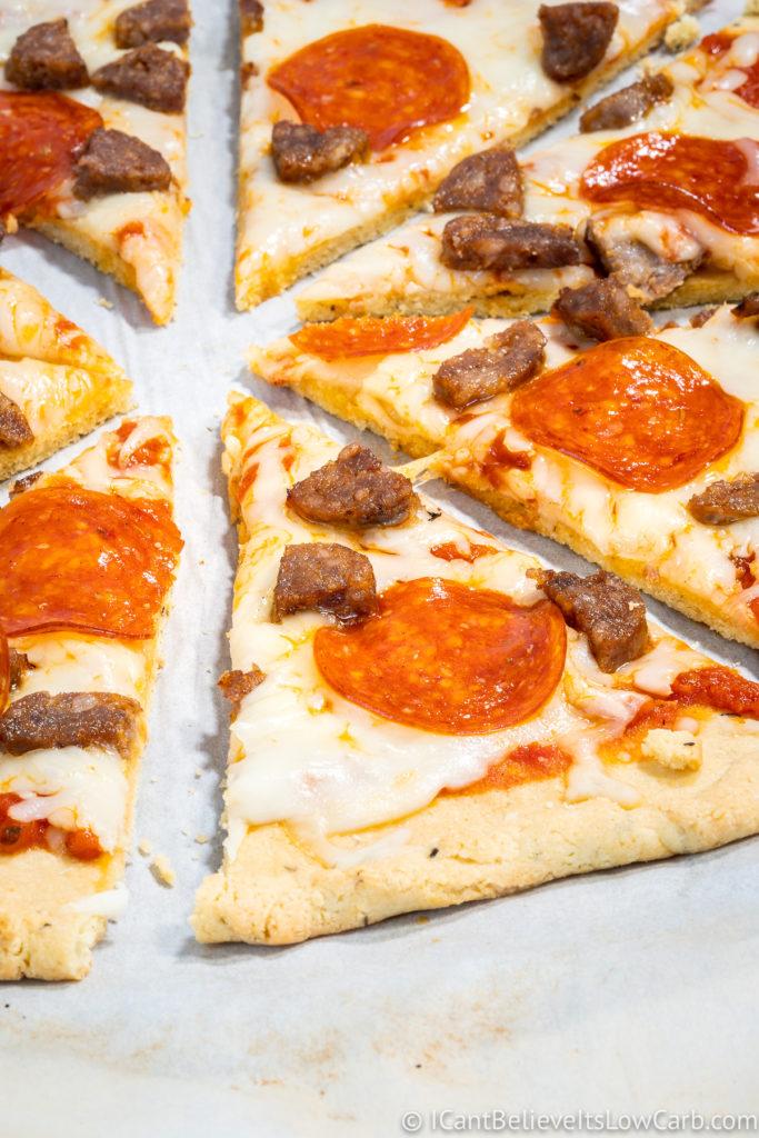 Almond Flour Pizza Slices