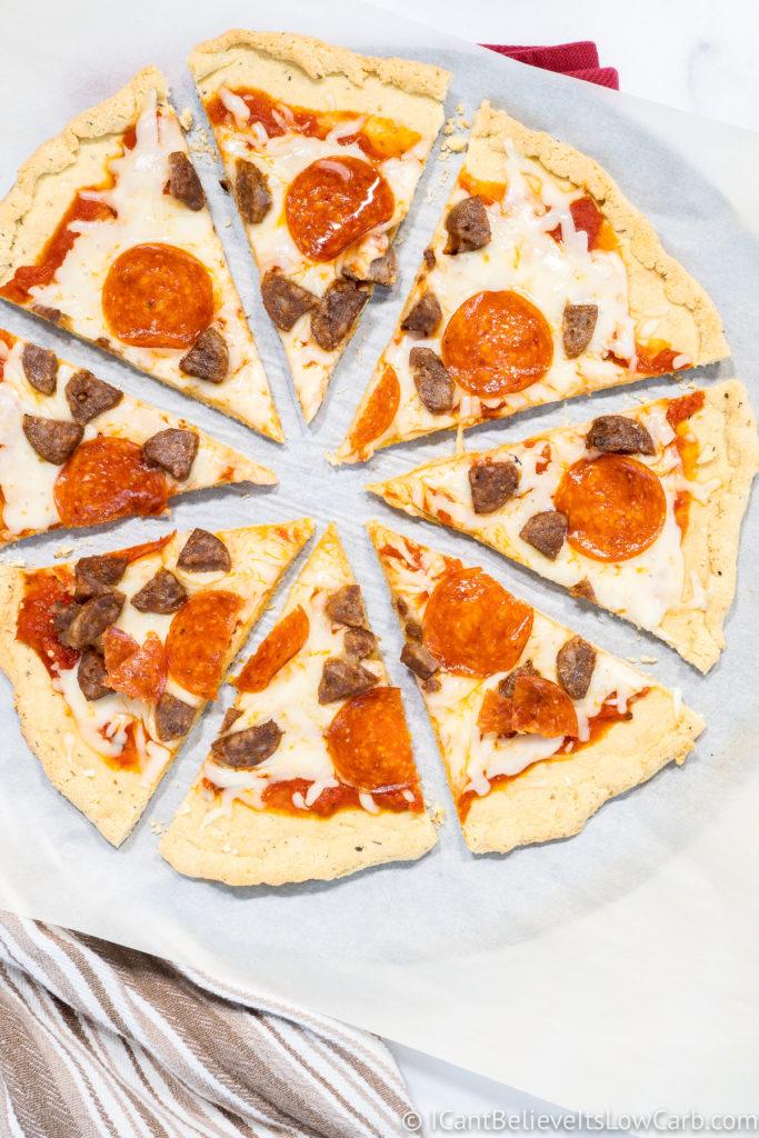 Keto Almond Flour Pizza Crust