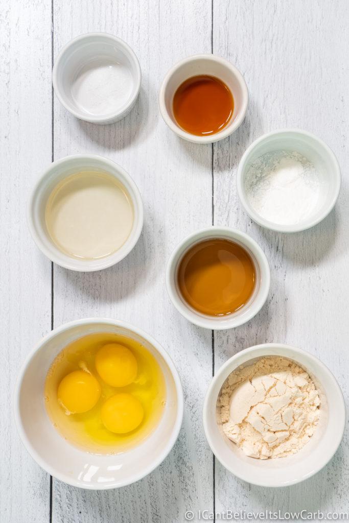 Coconut Flour Pancakes Ingredients