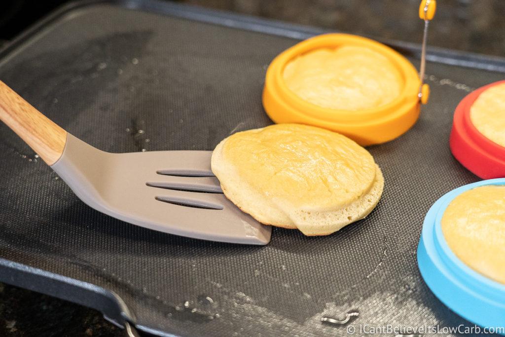 Flipping Coconut Flour Pancakes