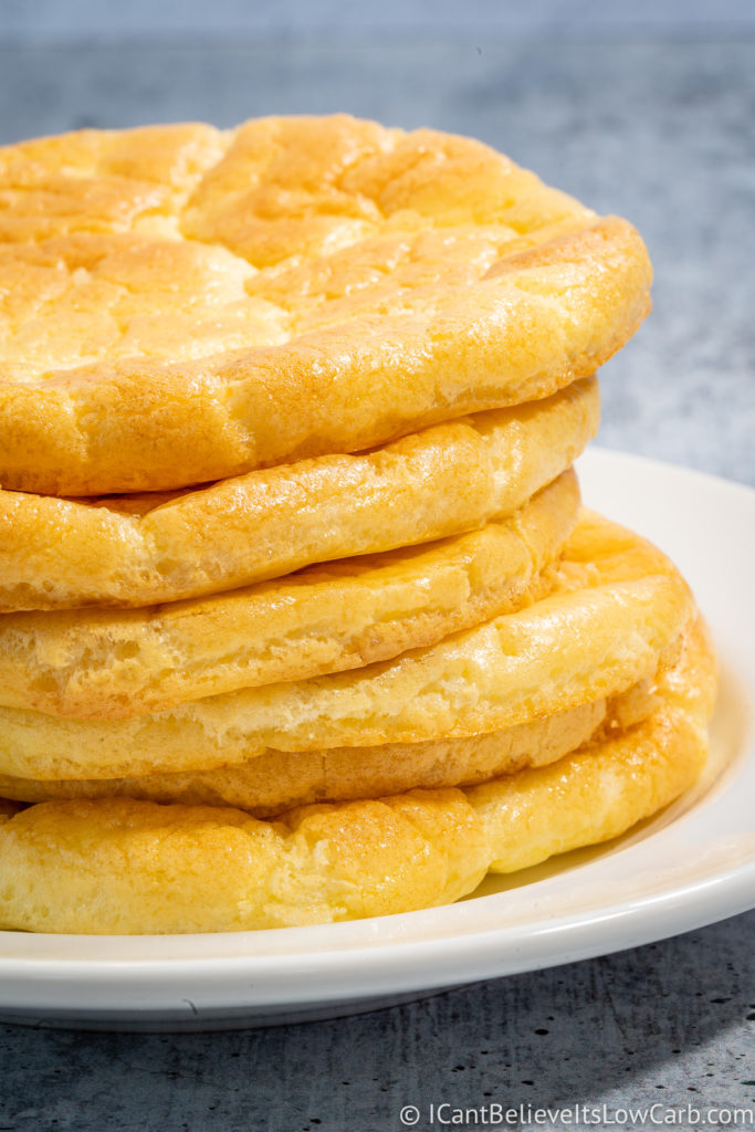 Keto Cloud Bread on a plate