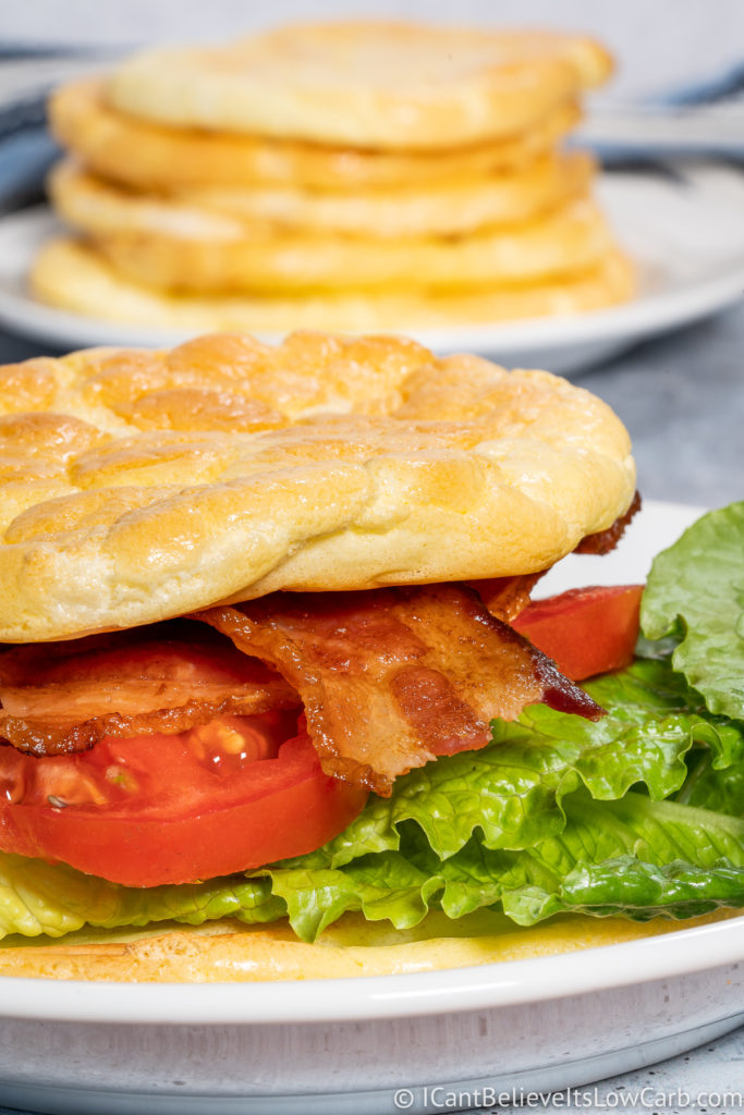 Making a BLT with Keto Cloud Bread