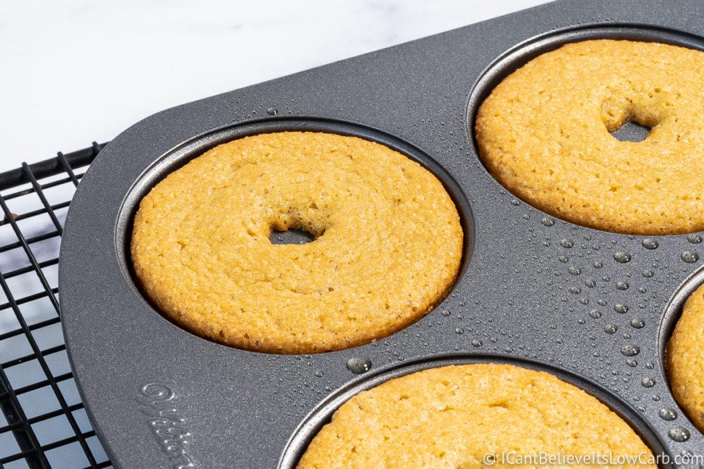 Keto Donuts after baking