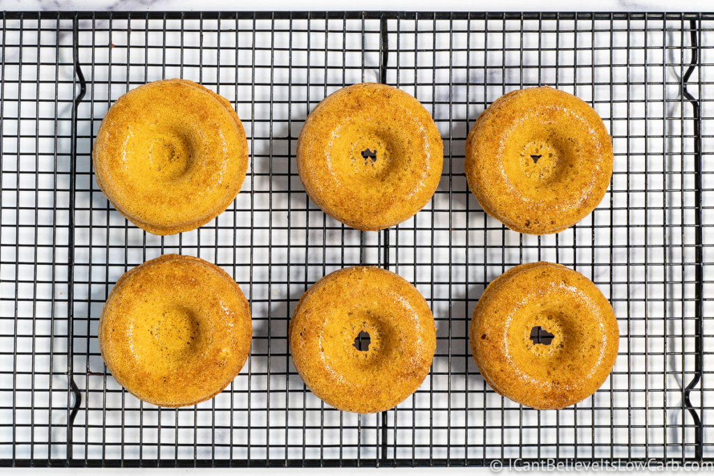 Sugar-Free Donuts on cooling rack