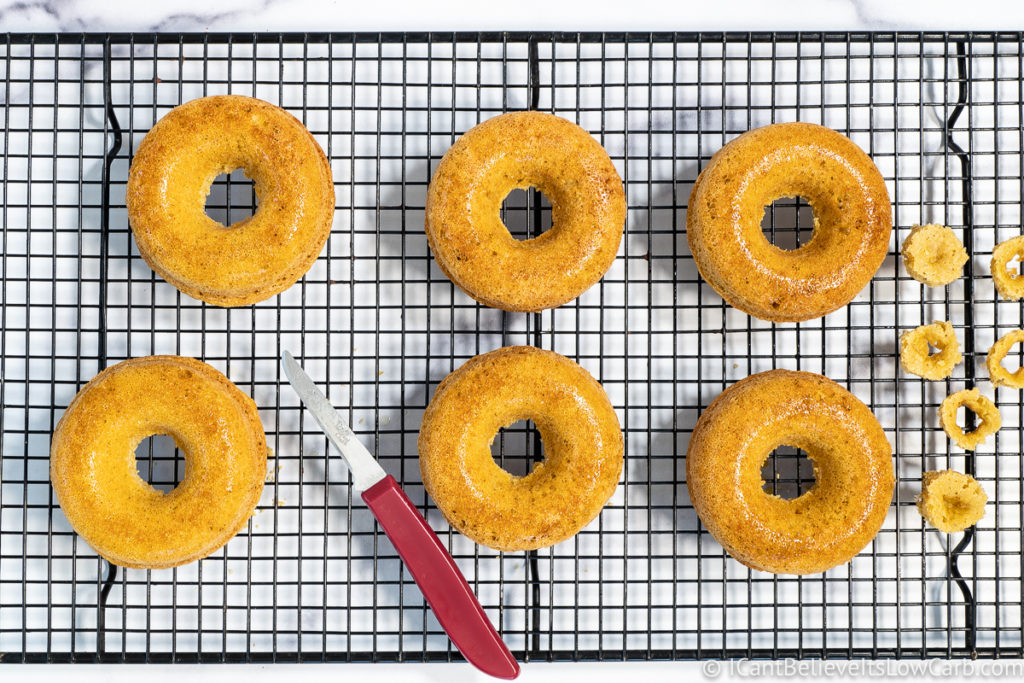 Cutting donut holes out
