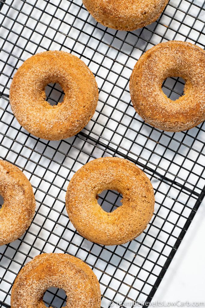 Cinnamon Sugar Keto Donuts