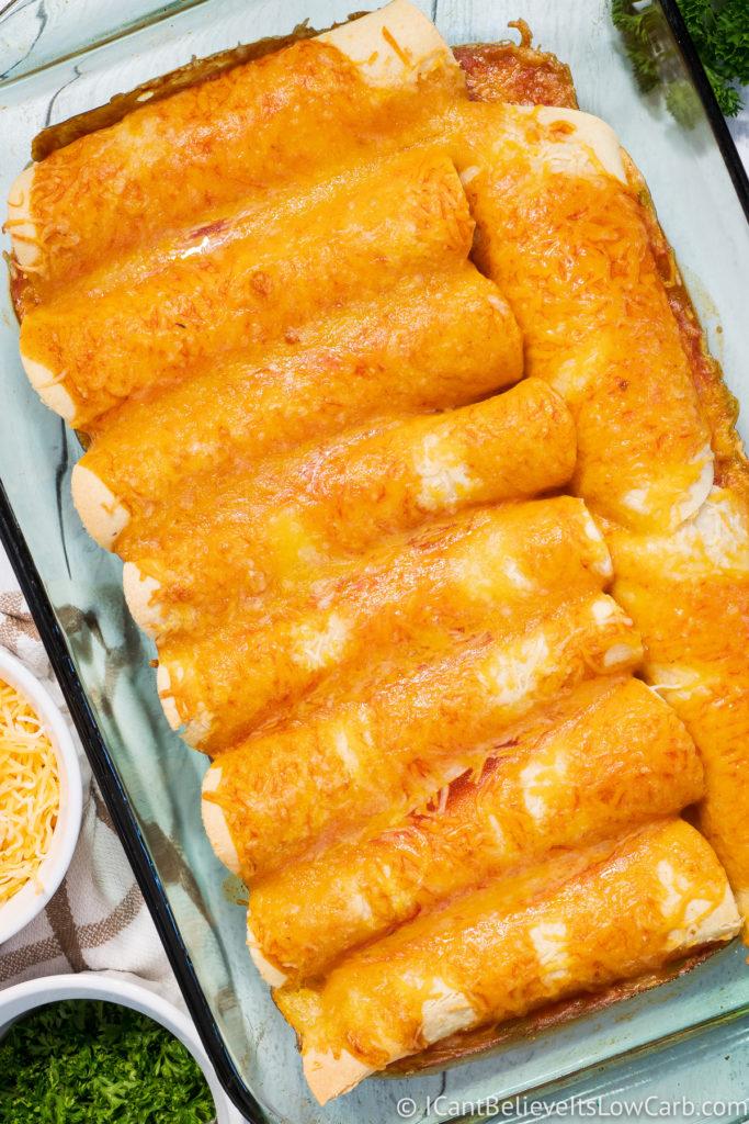 Cheesy Keto Enchiladas