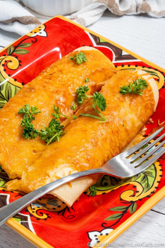 Keto Enchiladas on a plate