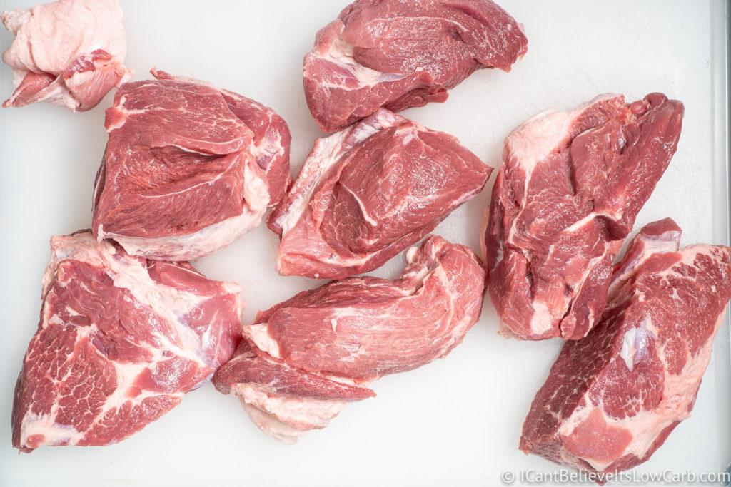 Pork Butt Cut into pieces