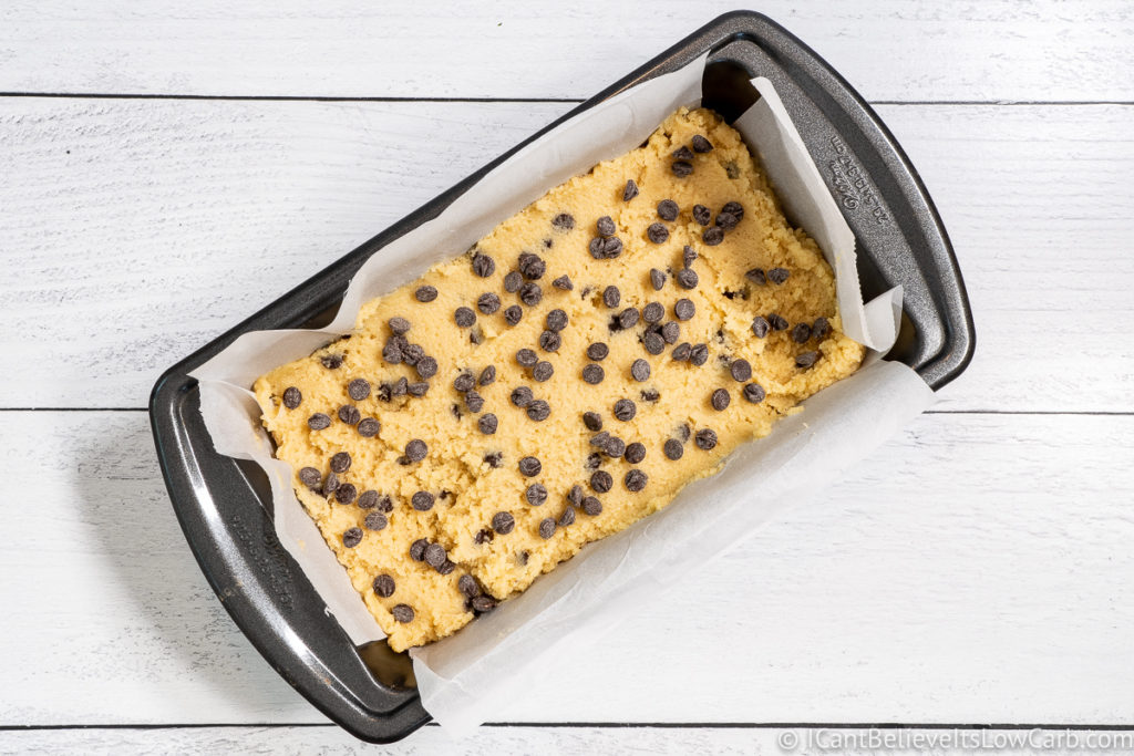 Banana Bread in a loaf pan before baking