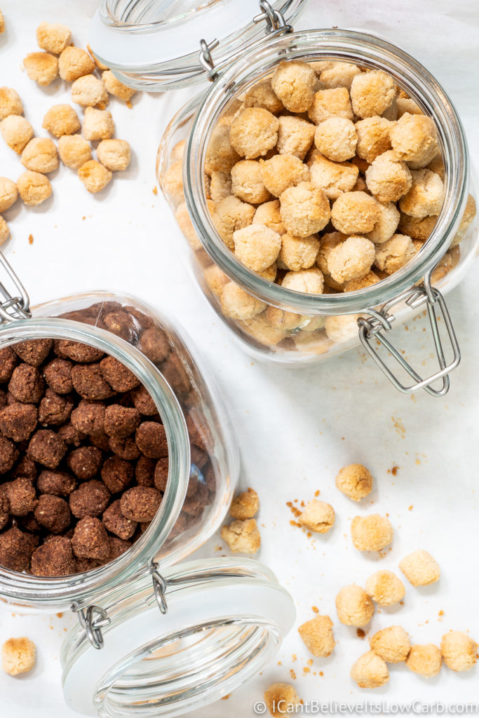 Two flavors of Keto Cereal