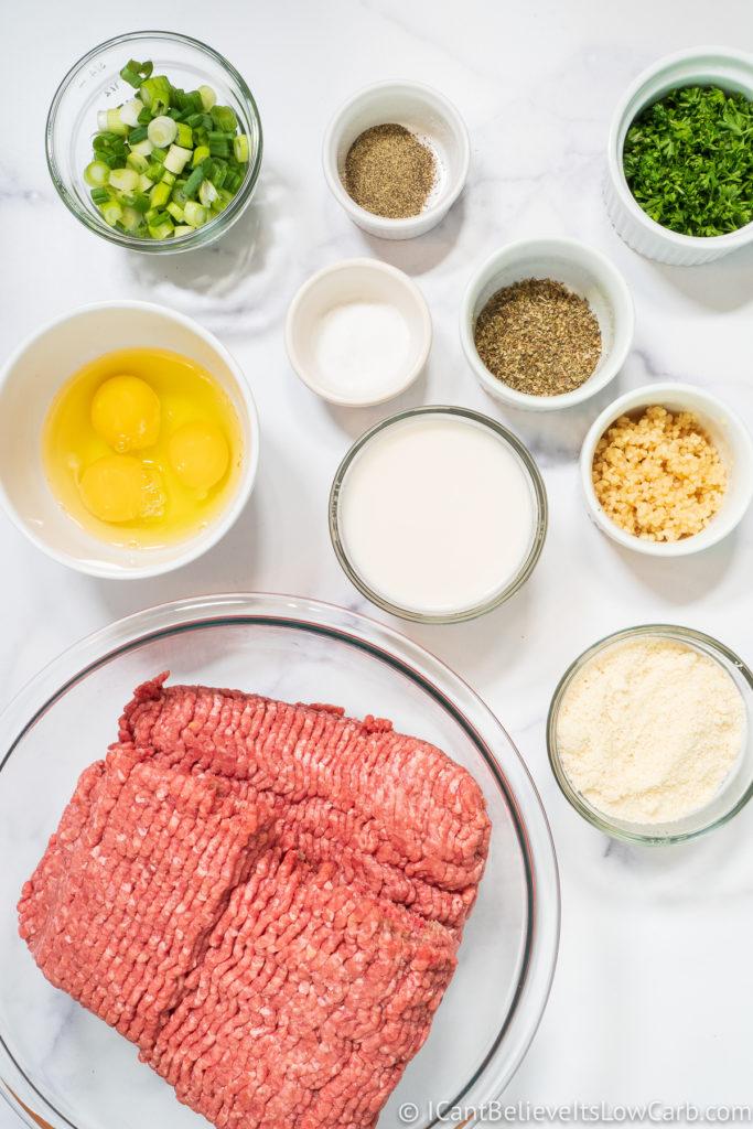 Keto Meatball Ingredients