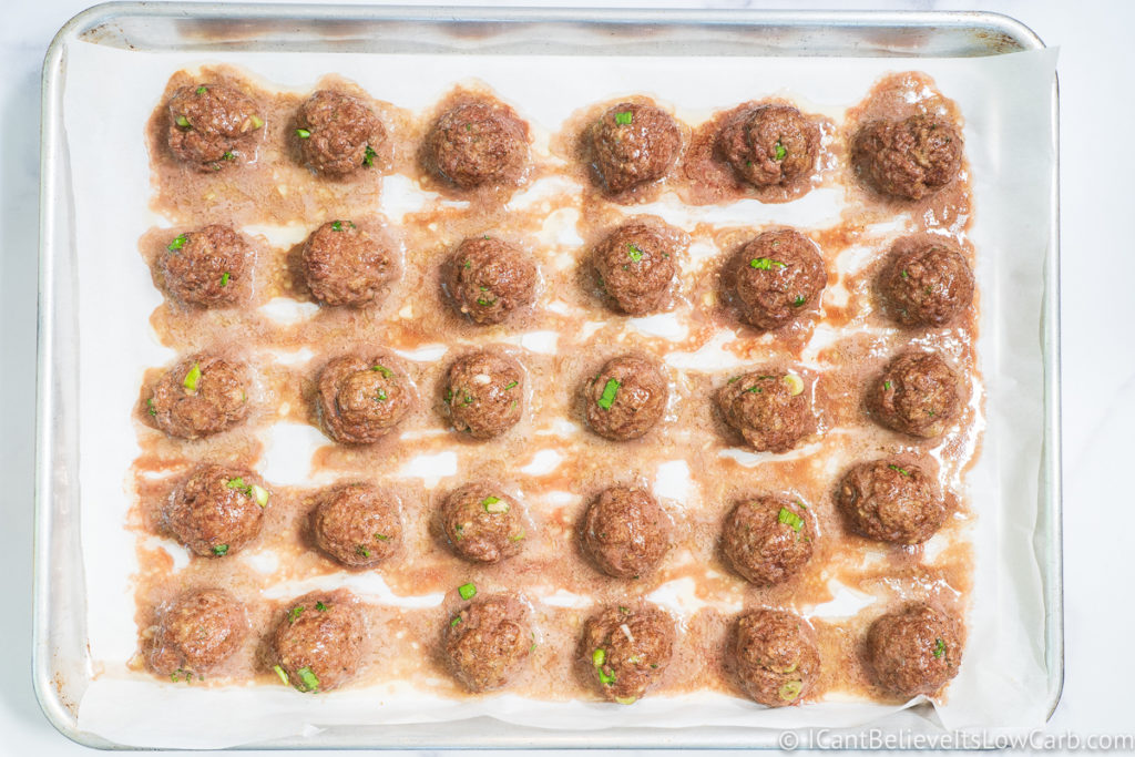 Keto Meatballs cooked in the oven