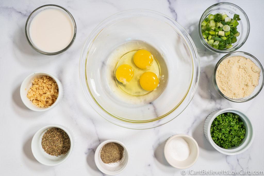 Ingredients for Keto Meatballs