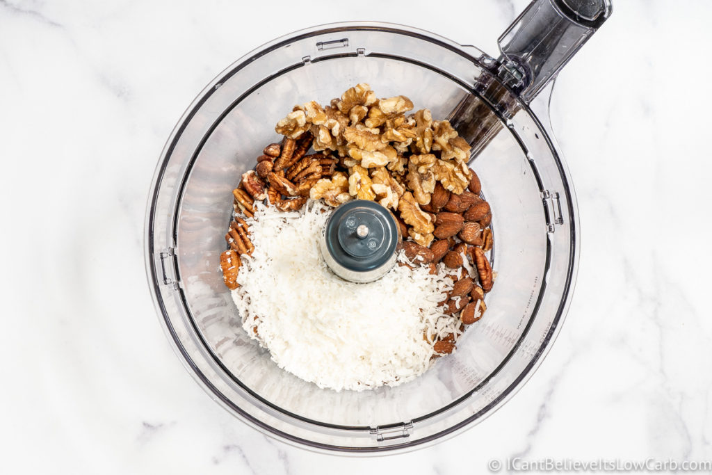 all the nuts in blender before chopping