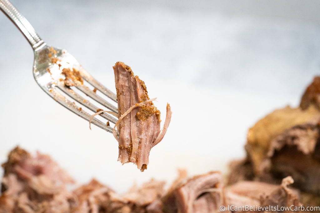 picking up Pulled Pork with a fork