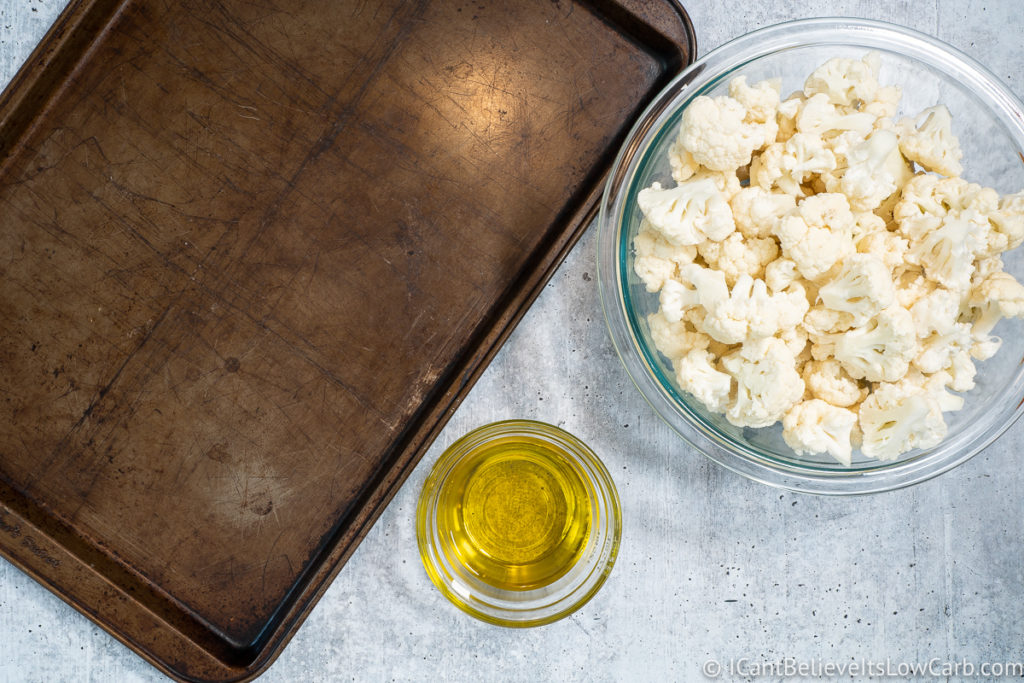 Bowl of Cauliflower and Oil